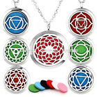 Openable Chakra Sanskrit Photo Frame / Perfume Diffuser Locket Pendant Necklace