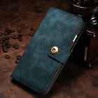 Genuine Leather Magnetic Flip Card Removable Wallet Case Cover For Various Phone