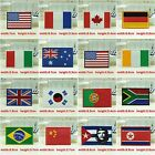 15-style Flag Emblem Embroidered Trim Applique National Country Sew/Iron Patch