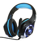 Professional Headphones for PC Computer Gaming Headset w/ Hidden Microphone LED