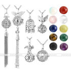 Pick Chakra Lava Stone Gemstones Alloy Openable Locket Pendant Chain Necklace