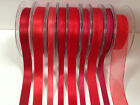 Berisfords Satin, Sheer & Grosgrain - RED 3-50mm  full range available (see ad)