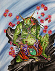 Predator Oni by Derek Dufresne Japanese Demon Ogre Mythology Canvas Art Print