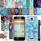 For Alcatel OneTouch Elevate 4037V TPU PATTERN SILICONE GEL Soft Case Cover +Pen