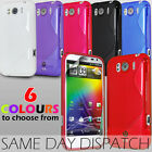 S LINE WAVE GEL SKIN CASE COVER & SCREEN PROTECTOR FOR HTC SENSATION XL