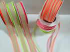 VIVANT Cotton Ribbon - NEON FLOURESCENT / natural - var cols/ lengths  6 & 20mm