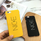 New Ultra-Thin Fashion Smile Hard PC Back Skin Case Cover for iPhone 5 6S 7 Plus