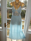 Vtg Avon Ultra Femme Nylon Lacy Satin Bow Slip Dress Negligee Nightie Gown 40