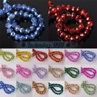 4mm 6mm 8mm 10mm Crystal Glass Rondelle Faceted Charms Loose Spacer Beads Lots