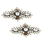 BH Antique Silver Gold Rhinestones Decoration Vintage Wedding Party Shoes Clips