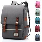Uomo Canvas Outdoor Viaggio Da Trekking Zaino Spalla Laptop Bag New