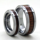 Size 4-18 Rosewood Inlay 8mm or 5mm Couple Tungsten Carbide Ring