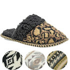 Muk Luks Fairisle Women's Knit Sweater Scuff Slippers House Shoes