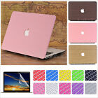 """3in1 Wooden Leather Matte Case+KB Cover+LCD Film for MacBook Air 11"""" Pro 13"""" 15"""""""