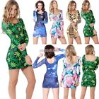 Sexy Women's Bandage Bodycon Long Sleeve Evening Party Cocktail Mini Dress N98B