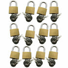 20mm Brass Padlock With 2 Keys Select Quantity 1 2 5 12 24 48 Padlocks free uk p