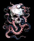 Skulltopus by Eric Pineda Skull and Octopus Tentacles Tattoo Giclee Art Print