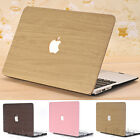 "Leather Coated Wooden Pattern Matte Hard Case for MacBook Air 11""Pro 13"" 15"""