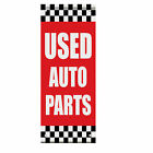 Used Auto Parts Auto Body Shop Car Repair Double Sided Vertical Pole Banner Sign