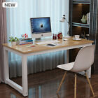 Modern Walnut Wooden & Metal Computer PC Home Office Desk / Study Table Bedroom