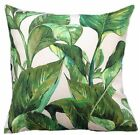 "1 CUSHION COVER- HOSTA palm leaves tropical 16,18"" 20"" 22"" 24""  NEW IN"