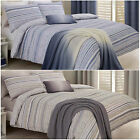 New & Modern Duvet Cover with Stripe Design on Seersucker Textured Fabric
