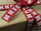 NORDIC SNOWFLAKES style 38mm - Heavier weight Luxury Wire Edged Ribbon NEW 2016