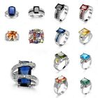 Jewelry Ring Finger Rings Hot Women Party Topaz slivery Rings Size 6/7/8/9/10