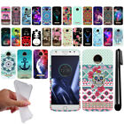 For Motorola Moto Z Play Droid XT1635 Art Design TPU SILICONE Case Cover + Pen