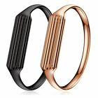 Luxury Stainless Steel Bracelet Bangle Metal Band Strap For Fitbit Flex2 Tracker