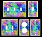 COLOR SPLASH ABSTRACT LIGHT SWITCH COVER PLATE        MADE IN USA