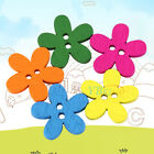100pcs Colorful 2 Holes Wood Button Flower Owl Letter for Sewing DIY Craft Gift