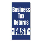 Business Tax Returns Fast  DECAL STICKER Retail Store Sign $35.99 USD on eBay