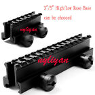 New See Through 20mm to 20mm High/Low Riser Base Picatinny Weaver Rail Mount