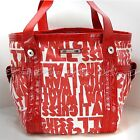 GUESS Emerald Coast NEW CA294625 RED TOTE Canvas $115 Handbag Bag Purse Shopper