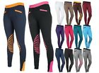 HKM Starlight Pull On Comfy Horse Riding Leggings Breeches Silicon Knee Patches