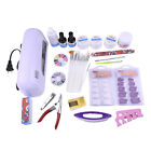 Pro Manicure Set 9W Phototherapy Lamp Nail Dryer Polish Gel Nail Art Tips Tools