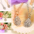 New Fashion Women Rhinestone Chain Pendant Long Chain Statement Necklace N98B