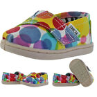 Toms Classic Toddler Girls Slip On Canvas Shoes