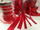 Berisfords D/F Satin, Sheer & Grosgrain Ribbon - RED 15 & 9325 - 3 to 70mm (new)