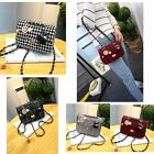 Woolen Mini Badge Houndstooth Shoulder Chain Lady Bags Women Cute Crossbody