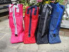 LONG RIDING BOOT BAG CARRY CASE * NAVY BLUE BLACK RED PINK waterproof lined