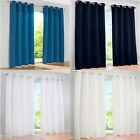 New 1Panel Luxury Curtains Eyelet Ring Top Panels Net For Living Room Bedroom