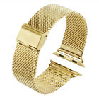 38MM 42MM Milanese Mesh Stainless Steel Watch Band Strap For Apple Smartwatch
