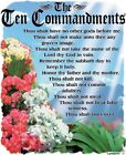 10 Commandments Shirt, List of Biblical Law, Bible, Sm - 5X