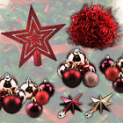 Christmas Decorations Tree Tinsel Star Xmas Baubles Silver Glitter Sparkle Home
