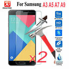 2x SAMSUNG GALAXY A3 A5 A7 2017/16 TEMPERED GLASS GORILLA GLASS SCREEN PROTECTOR