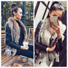 100% Real Rabbit Fur Waistcoat  Vest Gilet with Fur Collar Tassel Best Selling