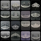 Bridal Princess Rhinestone Pearl Crystal Hair Tiara Wedding Crown Headband Clip
