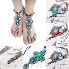 Vintage Womens Boho Anklets Barefoot Bracelet Foot Ankle Chain Toe Ring Jewelry
